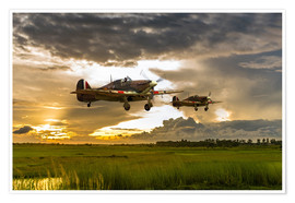Póster  Hurricanes Come Home - airpowerart