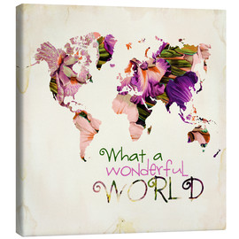 Lienzo  What A Wonderful World Map - Mandy Reinmuth