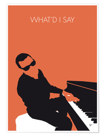 Póster Ray Charles, What'd I say