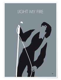 Póster  Jim Morrison, Light my fire - chungkong