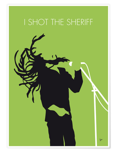 Póster Bob Marley, I shot the sheriff