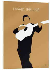 Cuadro de metacrilato  Johnny Cash I walk the line - chungkong