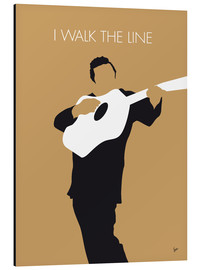 Aluminio-Dibond  No010 MY Johnny Cash Minimal Music poster - chungkong