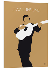 Cuadro de PVC  Johnny Cash I walk the line - chungkong