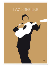 Póster Johnny Cash I walk the line