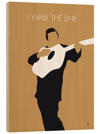 Cuadro de madera  Johnny Cash I walk the line - chungkong