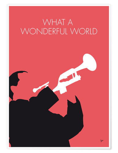 Póster Louis Armstrong, What a wonderful world