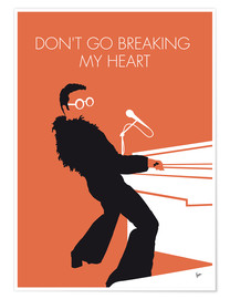 Póster Elton John, Don't go breaking my heart