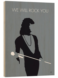 Cuadro de madera  Queen, We will rock you - chungkong