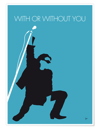 Póster U2, With or without you