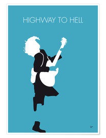Póster ACDC, Highway to hell