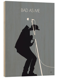 Cuadro de madera  Tom Waits, Bad as me - chungkong