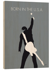 Cuadro de madera  Bruce Springsteen, Born in the U.S.A. - chungkong