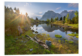 Cuadro de PVC  Sunset in the Dolomites - Dave Derbis