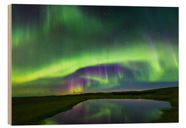 Cuadro de madera  Northern Lights - Dave Derbis