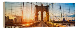 Cuadro de madera  Brooklyn Bridge in New York City, USA - Jan Christopher Becke