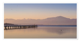 Póster Dawn at Lake Chiemsee