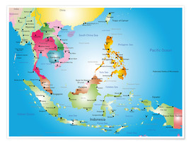 Póster Southeast Asia - Hotels, before 2002