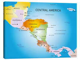 Lienzo  Central America - Map