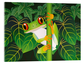 Cuadro de metacrilato  Hold on tight little frog! - Kidz Collection