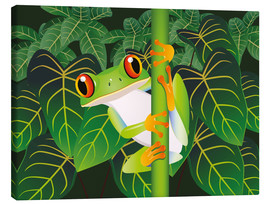 Lienzo  Hold on tight little frog! - Kidz Collection