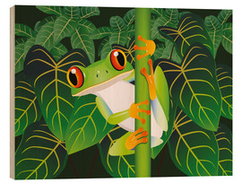 Cuadro de madera  Hold on tight little frog! - Kidz Collection