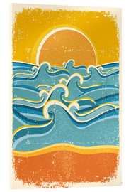 Cuadro de metacrilato  Sea waves and yellow sand beach - Kidz Collection