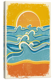 Lienzo  Sea waves and yellow sand beach - Kidz Collection