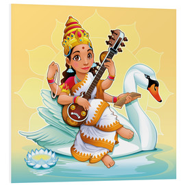 Cuadro de PVC  Saraswati with a swan - Kidz Collection
