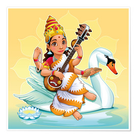 Póster  Saraswati with a swan - Kidz Collection