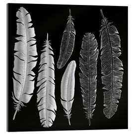 Metacrilato  Feathers in silver