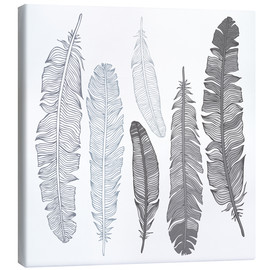 Lienzo  Feathers on white