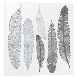 Forex  Feathers on white