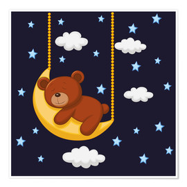 Póster  Goodnight Teddy - Kidz Collection