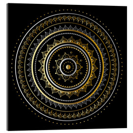 Metacrilato  Mandala on black