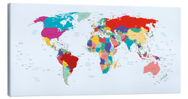 Lienzo  World Map - Country overview, updated 2003 - Kidz Collection