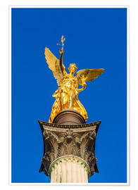 Póster  Angel of peace in Munich - Dieterich Fotografie