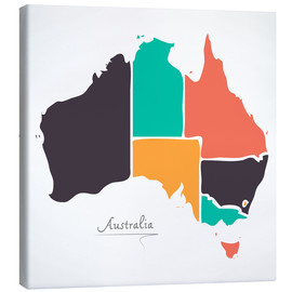 Lienzo  Australia map modern abstract with round shapes - Ingo Menhard