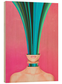 Cuadro de madera  My Other Face Is A cactus - Adam Priester