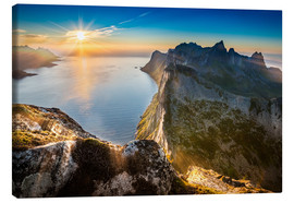 Lienzo  View from Beautiful Segla Mountain, Senja, Norway - Markus Ulrich