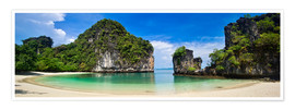 Póster thailand hong Iceland beach Panorama