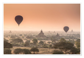 Póster Balloons over Bagan