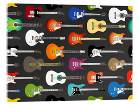Cuadro de metacrilato  Estampado de guitarras - Kidz Collection