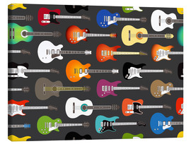 Lienzo  Estampado de guitarras - Kidz Collection