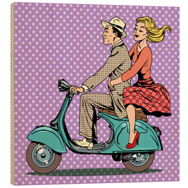 Madera  Couple on a scooter