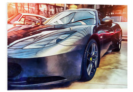 Forex  Sports car with reflecting surface