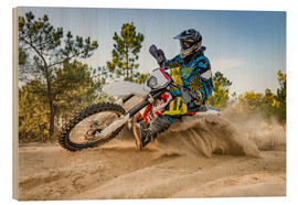Madera  Enduro biker on sand terrain