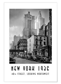Póster Nueva York 1936 - 48th street