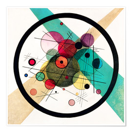 Póster  Circles in a Circle - Wassily Kandinsky