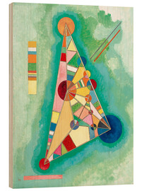 Cuadro de madera  Stained in Triangle - Wassily Kandinsky